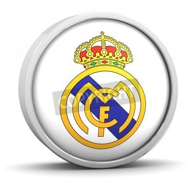 Affisch Real Madrid logotyp med cirkulär metallram. En del av en serie.