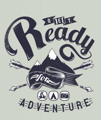 Affisch Redo för äventyr