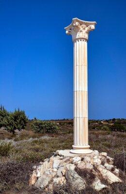 Affisch Rekonstruktion av korintiska kolonner på ön Kos, Grekland.