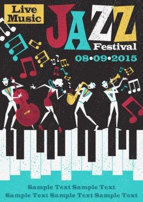 Affisch Retro abstrakt Jazz Festival Poster