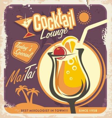 Affisch Retro affisch design för en av de mest populära cocktails