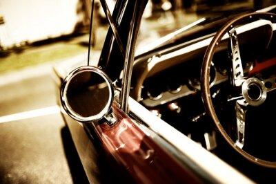 Affisch retro bil-fragment