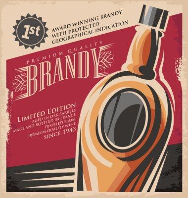 Affisch Retro drink kreativa tryckta medier koncept