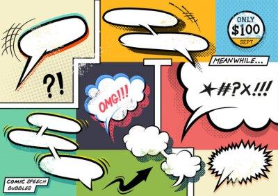 Affisch Retro komiska Pratbubblor