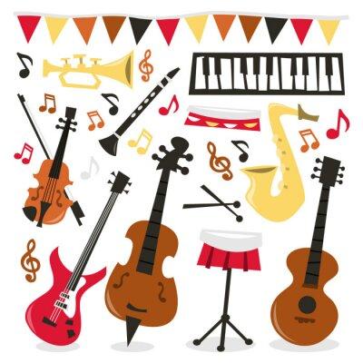 Affisch Retro Musical Party