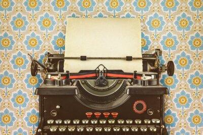 Affisch Retro stil bild av en gammal skrivmaskin
