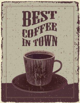 Affisch Retro-Vintage kaffeaffisch