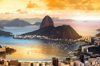 Affisch Rio De Janeiro, Brasilien skymning