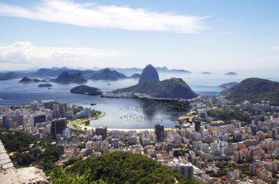 Affisch Rio de Janeiro. Överblick över staden.