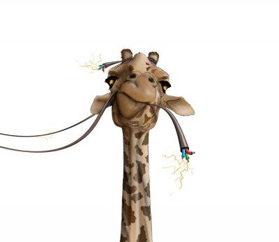 Affisch ritning av en giraff