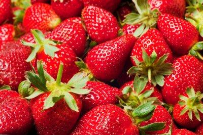 Affisch röda jordgubbar