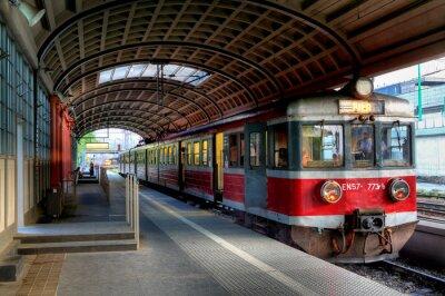 Affisch röda tåget
