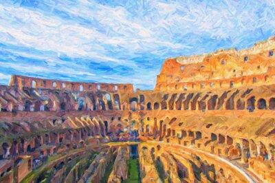 Affisch Rom Colosseum Digital målning