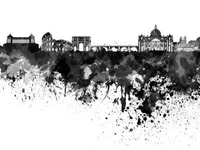 Affisch Rom silhuett i svart vattenfärg