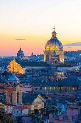 Affisch Roma panorama da Villa Borghese