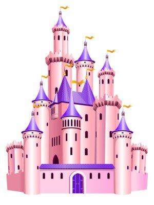 Affisch Rosa prinsessa slott.