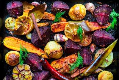 Affisch rostade grönsaker
