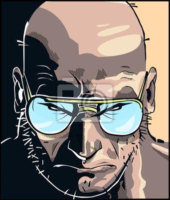 Affisch rostro Comic