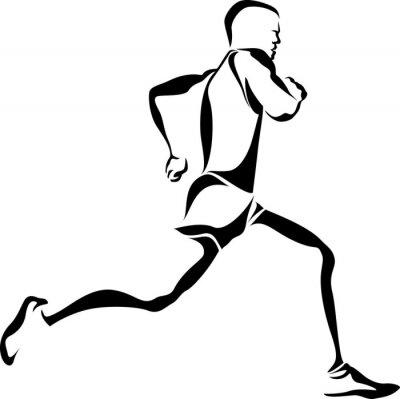 Affisch Runner Accent