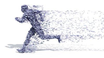 Affisch Running Man från block