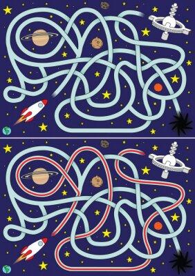 Affisch Rymdraket labyrint