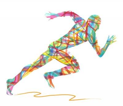 Affisch sagoma astratta di uomo che corre