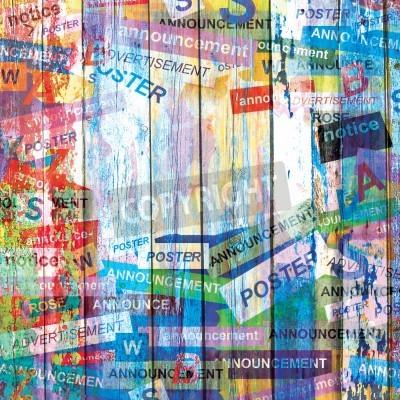Affisch Sammanfattning grunge bakgrund