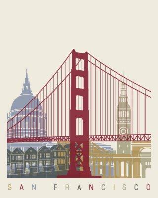 Affisch San Francisco horisont affisch