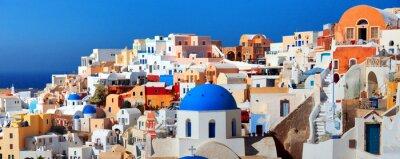 Affisch Santorini ö