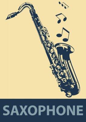 Affisch saxofon pop