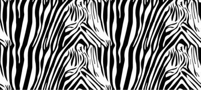 Affisch Seamless zebramönster