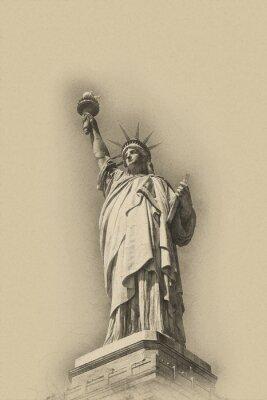 Affisch Sepia konstnärlig bild av Frihetsgudinnan
