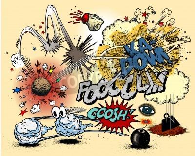Affisch Serietidning explosioner