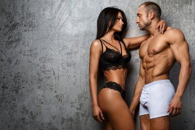 Affisch Sexiga par i underkläder