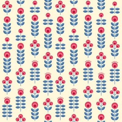 Affisch skandinaviska blommor