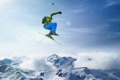 Affisch skier hopp