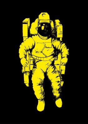 Affisch Skiss illustration av en astronaut