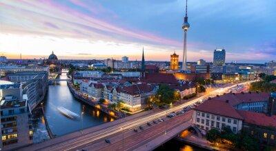 Affisch Skyline Berlin, Blick auf den Alexander
