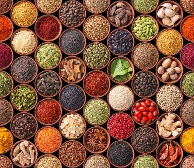 Affisch Smidig konsistens med kryddor och örter