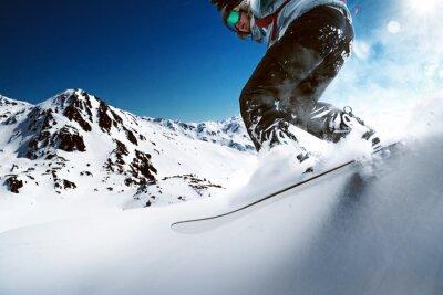 Affisch Snowboarder nedförsbacke