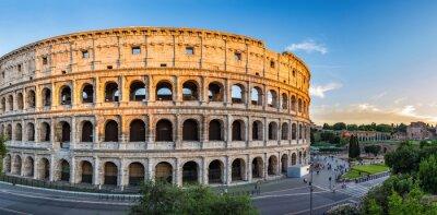 Affisch solnedgång vid Colosseum - Rom - Italien