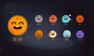Affisch Solsystemet vektor