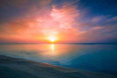 Affisch Soluppgång över havet