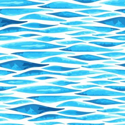 Affisch Sömlös horisontell hav bakgrund