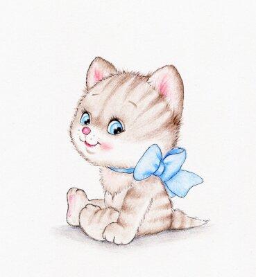 Affisch söt kattunge