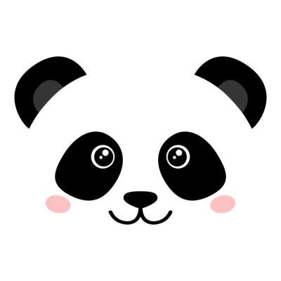 Affisch Söt panda ansikte