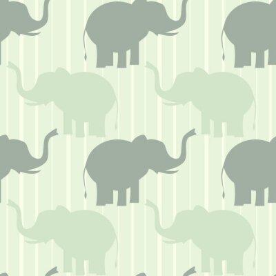 Affisch söt pastell elefant sömlösa vektor mönster bakgrund illustration