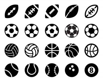 Affisch Sport Balls