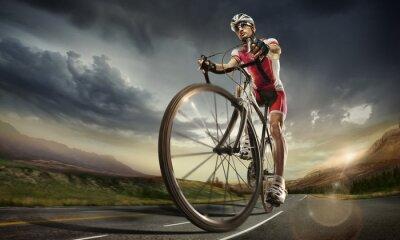 Affisch Sport. Väg cyklist.