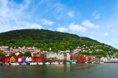Affisch staden Bergen, Norge